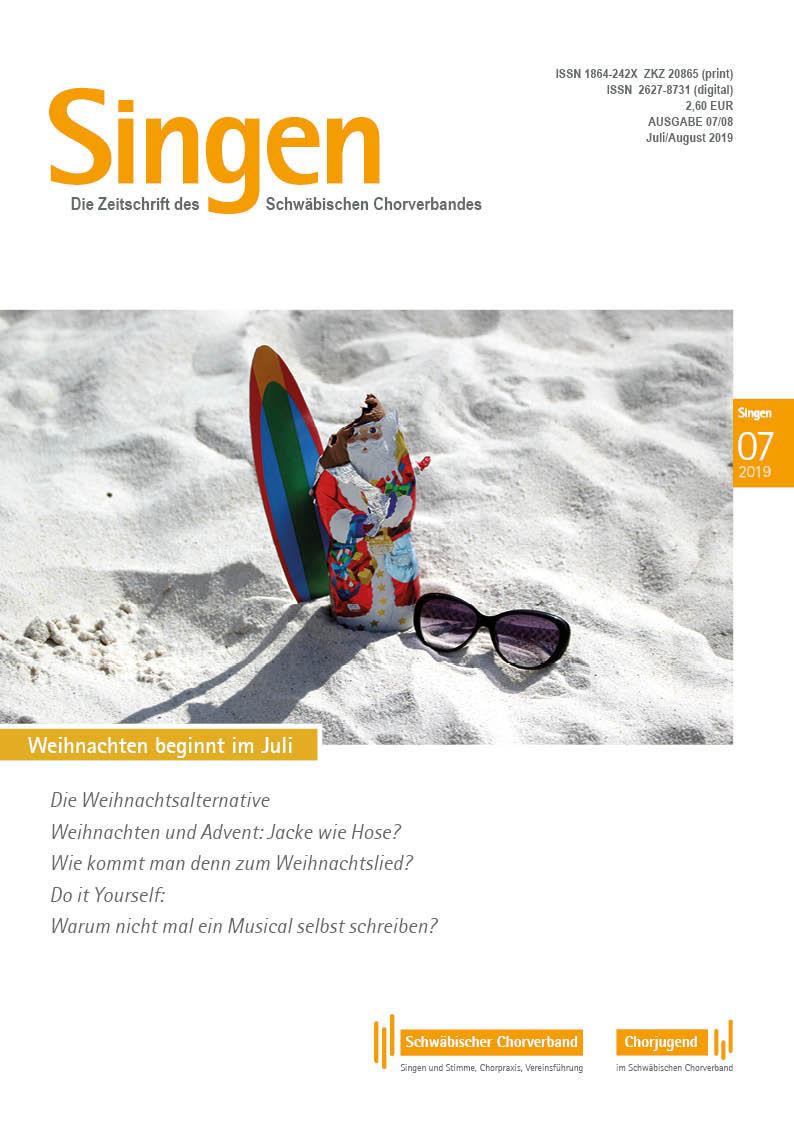 2 Mal Weihnachten 2019.Zeitschrift Singen 07 08 2019 Kurzfassung Schwäbischer Chorverband